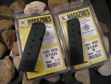 2-Pack Star B Magazine Mag Mags Current USA MADE 9 Round Blued 9mm US MADE