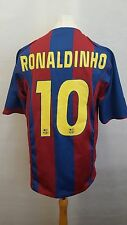 Camiseta Barcelona Ronaldinho 10 (l) Adulto 2004/2005 Hogar Camiseta De Fútbol Barca