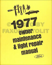 1977 Ford Do it Yourself Repair Manual Mustang II T bird LTD Pinto Maverick