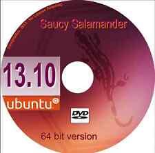 Ubuntu 13.10 Saucy Salamander 64 Bit Linux Operating System + Libre Office +more