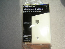 LOT of 2 Trademaster TPTE1-LA RJ11 One Phone Jack Single Light Almond Wall Plate