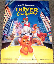 OLIVER AND COMPANY 1996 ORIGINAL 18x27 MOVIE POSTER! DISNEY ANIMATION CLASSIC!