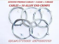 5 CYCLE INNER GEAR & 5 CYCLE INNER BRAKE CABLES + 10 CRIMPS MTB, SHIMANO ETC