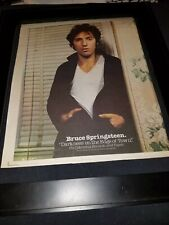 Bruce Springsteen Darkness On The Edge Rare Original Promo Poster Ad Framed!
