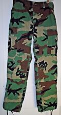 US Army BDU Woodland Camo Hot Weather Ripstop Combat Pants, Small Reg.