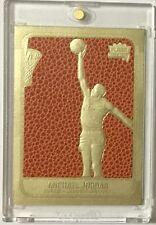 1986 MICHAEL JORDAN Fleer ROOKIE Feel The Game 23KT Gold Card Sculpted