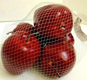 5 Red Apples Decorative Fake Fruit Food Kitchen Home Party Decor Resin Foam New