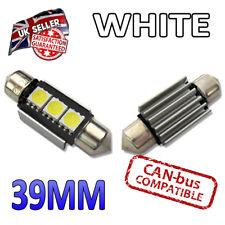 10 x 39 mm Bianco CANBUS LED Festone Luminoso Luci Interne Targa C5W 239 SMD lampadina