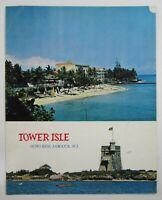 Vintage Restaurant Menu Tower Isle Ocho Rios Jamaica West Indies 1970