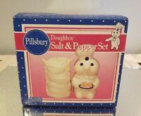 Vintage Pillsbury Doughboy Salt and Pepper Shaker Set Brand New 1998