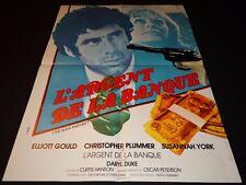 L' ARGENT DE LA BANQUE elliott gould   affiche cinema 1978