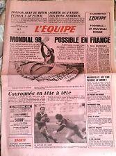 L'Equipe Journal 22-23/11/1986; Mondial 98 possible en France/ Poupon, Peyron