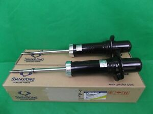 GENUINE SSANGYONG REXTON SUV Y200 & Y220 FRONT AXLE SHOCK ABSORBER ASSY PAIR SET