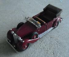 1991 Franklin Mint 1:43 Scale Diecast 1939 Mercedes Benz Burgundy Car