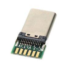 2pcs DIY SMT type-c USB 3.1 Type C USB-C Male Plug Connector with PC Board