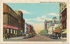 Market Street Looking West in Clearfield PA Postcard