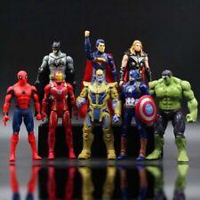 8pcs Marvel Avenger's Hulk Captain America Iron Man Thanos Bat Set Kids Toy