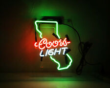 TN136  Coors Light California US Wall Display Beer Neon Light Sign LED 14x9