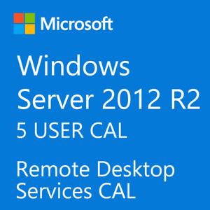 Windows Server 2012 / 2012 R2 Remote Desktop Services RDS 5 USER CAL License