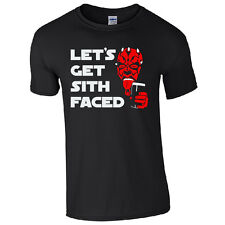 Let's Get Sith Faced T-Shirt - Funny Star Wars Darth Maul Inspired Joke Mens Top