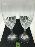 Baccarat Massena Crystal Champagne Flutes Set of 2 Glasses Valentines Day Lot B