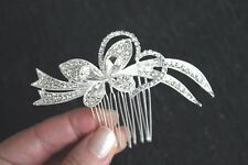 Sparkly Butterfly & Heart hair comb slide ** NEW IN **