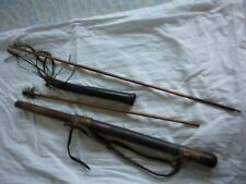 VINTAGE JAPANESE QUIVER WITH TWO BAMBOO ARROWS