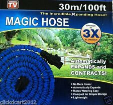 Magic Hose Expandable Garden Hose With Multi-Pattern Spray Nozzle 100 Feet