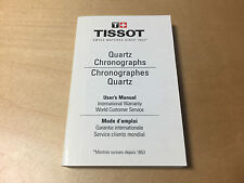 Instructions Booklet TISSOT Quartz Chronographs - User's Manual - All Languages