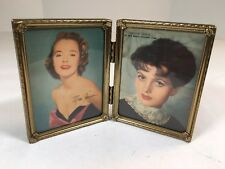 "Vintage Brass Photo Frame Shelf Style For Photo Freestanding 4""x 3"" Photo Size"