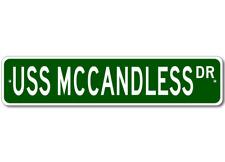USS MCCANDLESS FFT 1084 Street Sign - Navy