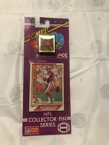 VINTAGE 1991 ACE NFL JOE MONTANA Collector Series FOOTBALL PIN & CARD  49ers