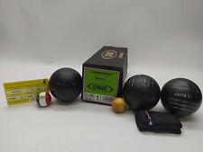 3 Boules de Pétanque OBUT MATCH+ Compétition 76mm 680g Acier Carbone + Marquage