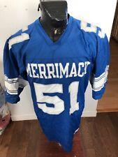 Large Champion Football Jersey Merrimack College Boston #51 Warriors Vintage