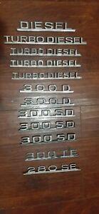 Any vintage Mercedes Benz W124 W126 OEM badge 300TE 300D DIESEL TURBODIESEL