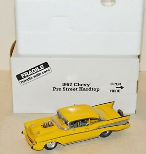 Danbury Mint 1:24 Scale 1957 Chevrolet Pro Street Hardtop Yellow Diecast Car