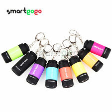 New LED Flashlight Rechargeable USB Keychain Mini Torch orch Waterproof A2TS