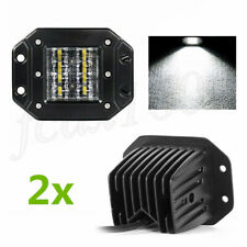 2x Bumper Flush Mount LED 48W Spot Flood Driving Work Light Off Road Truck SUV