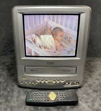 "RCA Television VHS Combo T09085 Gray Silver 9"" inch Retro Gaming TV With Remote"