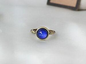 Antique Gold Plating Circle Stone Mood Ring