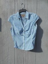 women's Roper cap sleeve button up shirt size Small plaid Retails $54