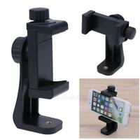 Universal 360° Rotatable Plastic Phone Holder Clip for Selfie Stick Tripod Black