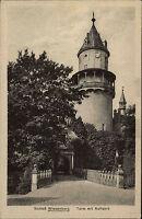Wiesenburg Brandenburg AK ~1910 Schloss Turm mit Auffahrt Bergfried Palace Tower