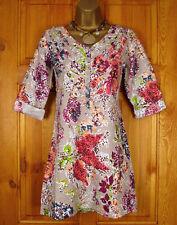 Linen Mini 3/4 Sleeve Plus Size Dresses for Women