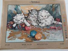 "Printed Needlepoint tapestry canvas 45x60cm (18""x24"")60x45 canvas Gobelin L"
