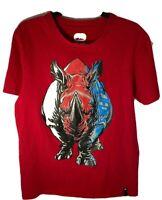 Ecko Unltd Men Shirt Tee Graphic Rhino  Size Medium M Red, Black, White
