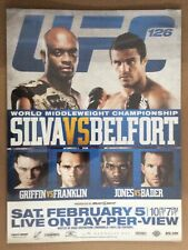 UFC 126-127 TWO SIDED PROMO POSTER
