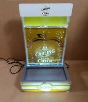 Carling British Cider Water Feature Light Up Breweriana Pub Man Cave Lager Beer