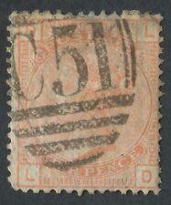 SG.Z11 D.W.I 1876 4d Vermillion Pl15 LD, imperfections with 'C51' of St Thomas