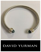 David Yurman Cable Classic Bracelet with Prasiolite and 14K Gold  5mm